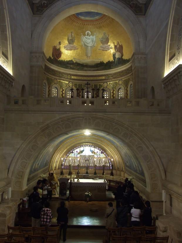 145 Monte Tabor si nota il Piano del Santuario della Trasfigurazione la Cripta