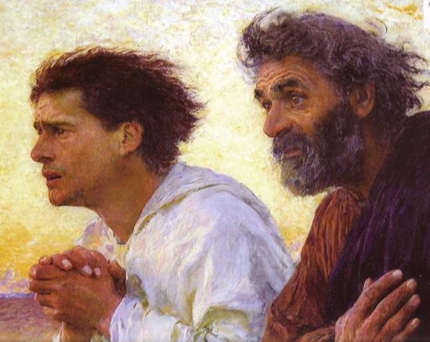 Pietro e Giovanni corrono al Sepolcro vuoto - E. Burnand 1850 - 1921